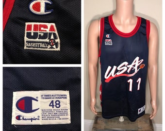 Vintage Karl Malone jersey    champion size 48    Utah Jazz    Team USA      11 champion jersey olympics    rare dream team retro 2a48d8f49
