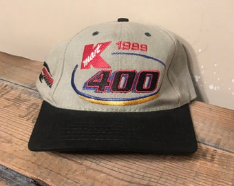 36007ded Vintage KMart racing hat // Kmart 1999 400 racing cap // Michigan  International Speedway // adult size two tone snapback hat