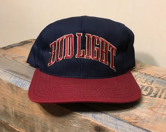 954759fc005 Vintage Bud light snapback hat    90s two tone cap    arch spell out    beer  hat cap    made in USA    party costume retro deadstock nos