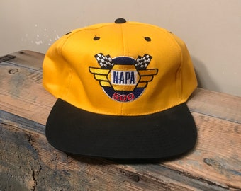 fa2dfc8743e Vintage Napa 500 racing hat    nascar two tone cap    we keep america  running    officially licensed product    auto parts    checkered flag
