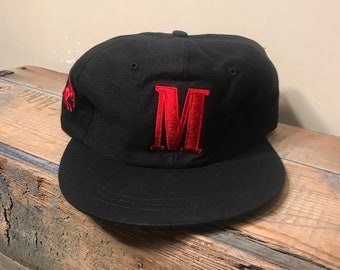 fc94274e3c3f2 Vintage Marlboro hat    Marlboro cigarettes    adjustable hat    marlboro  team    cowboy racing rodeo spell out black hat    DEADSTOCK NOS