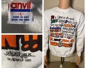 Vintage Cleveland Browns sweatshirt rare white anvil size large medium Browns Fan Dawg Pound sweatshirt crewneck soft