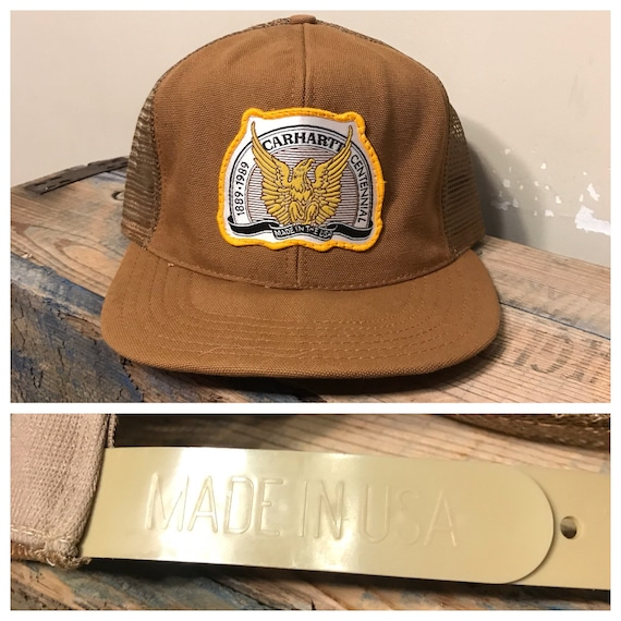 Vintage Carhartt hat    snapback trucker hat    made in USA     654e411602d