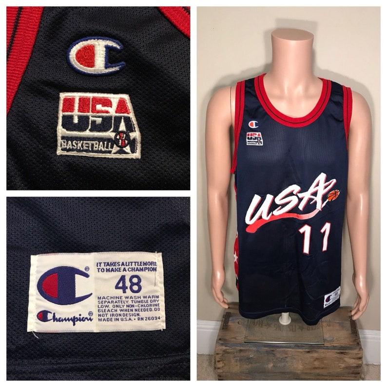 95214d36c72 Vintage Karl Malone jersey // champion size 48 // Utah Jazz // | Etsy