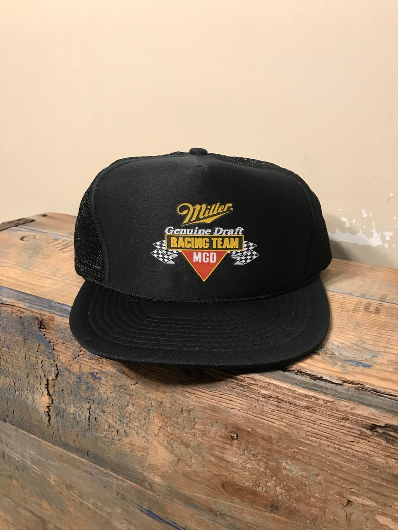 Miller genuine Draft racing team hat    MGD cap    snpaback two tone ... f586b31dd029