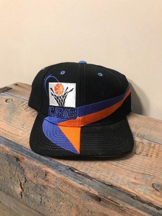 88691130a Vintage Cleveland Cavaliers hat // throwback cap // Cavs hat // 90s lee  sports // big logo hat // black blue orange // vintage wool hat