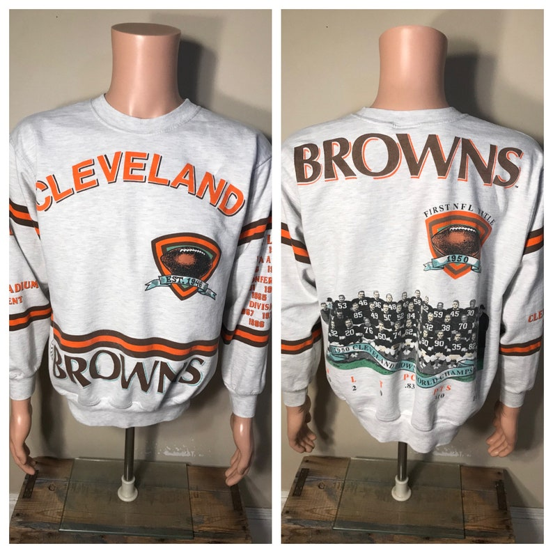 RARE // Cleveland Browns sweatshirt // Vintage all over print image 0