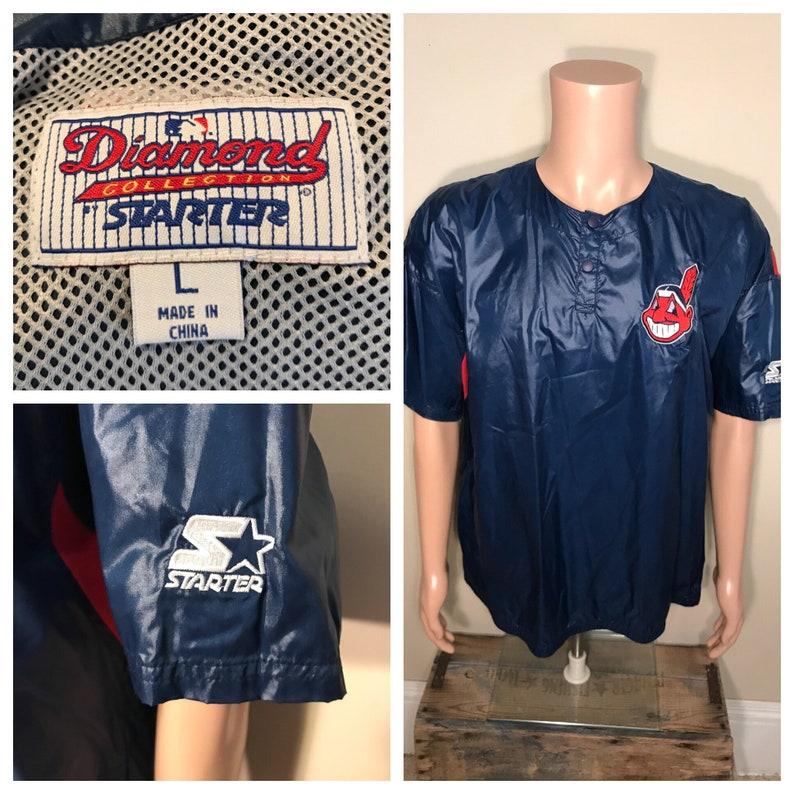 159c678325c6 Vintage Cleveland Indians windbreaker // Starter pullover // | Etsy