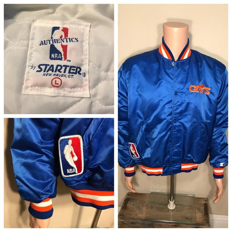 Vintage Cleveland Cavaliers satin jacket // Starter NBA patch image 0