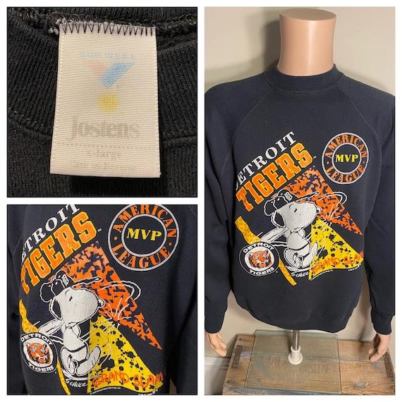 Vintage Detroit Tigers sweatshirt // rare 1990 sno