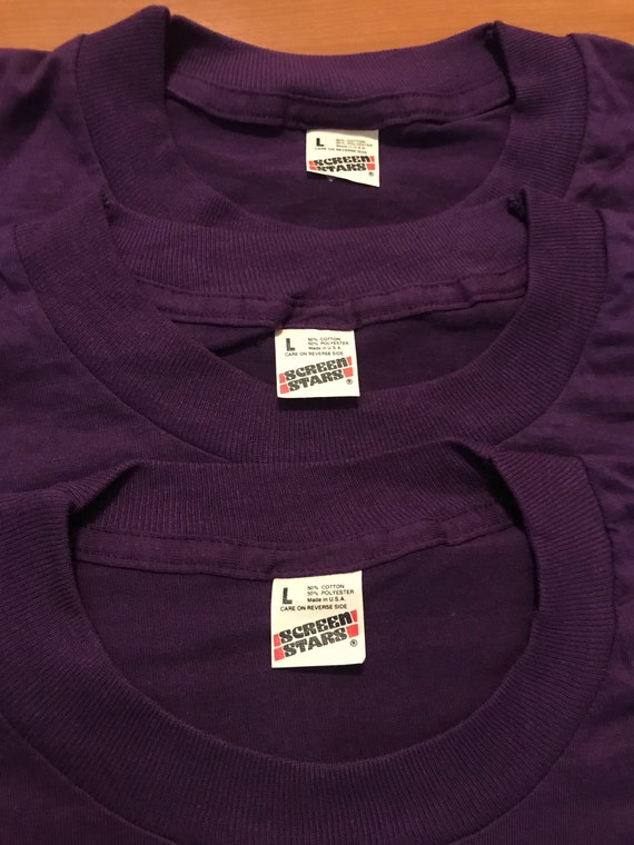 Vintage SCREEN STARS 80s 50//50 T shirt XL  Soft Thin Blank Plain