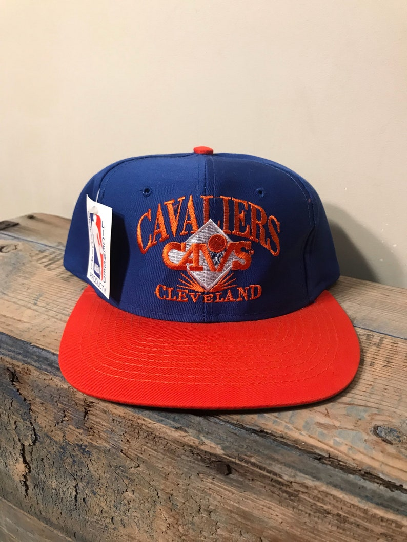 c638d45dc Vintage Cleveland Cavaliers hat // New old stock NOS // deadstock two tone  cap // snapback hat // 90s retro // classic style // AJD hat