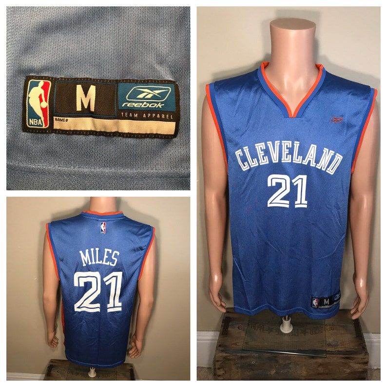 new product 68c82 1d11d Vintage Cleveland Cavaliers jersey // Darius Miles #21 retro throwback //  reebok size medium jersey // rare Cavs Ohio // NBA basketball