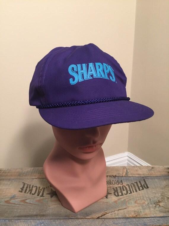 Sharps beer hat    Vintage purple snapback hat    Sharps NA  10aac7ccd8df