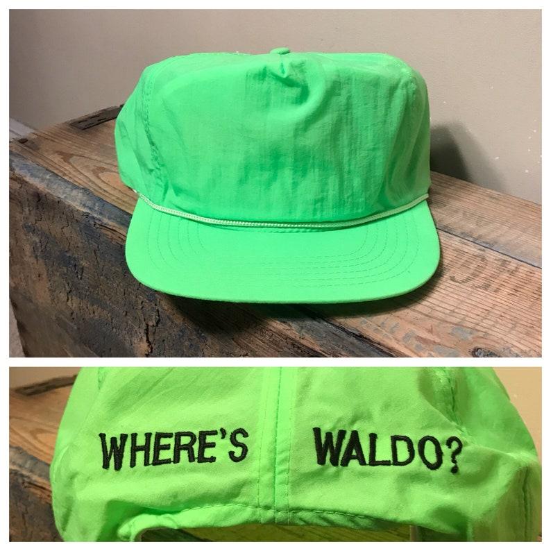 aa046b2a44e Vintage wheres waldo hat    snapback hat cap    deadstock new