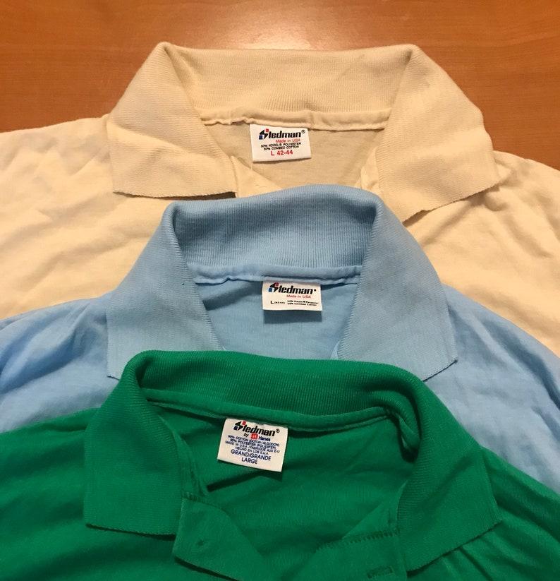 Lot of 3 Vintage Stedman Polo pocket T-shirts // NOS // image 0