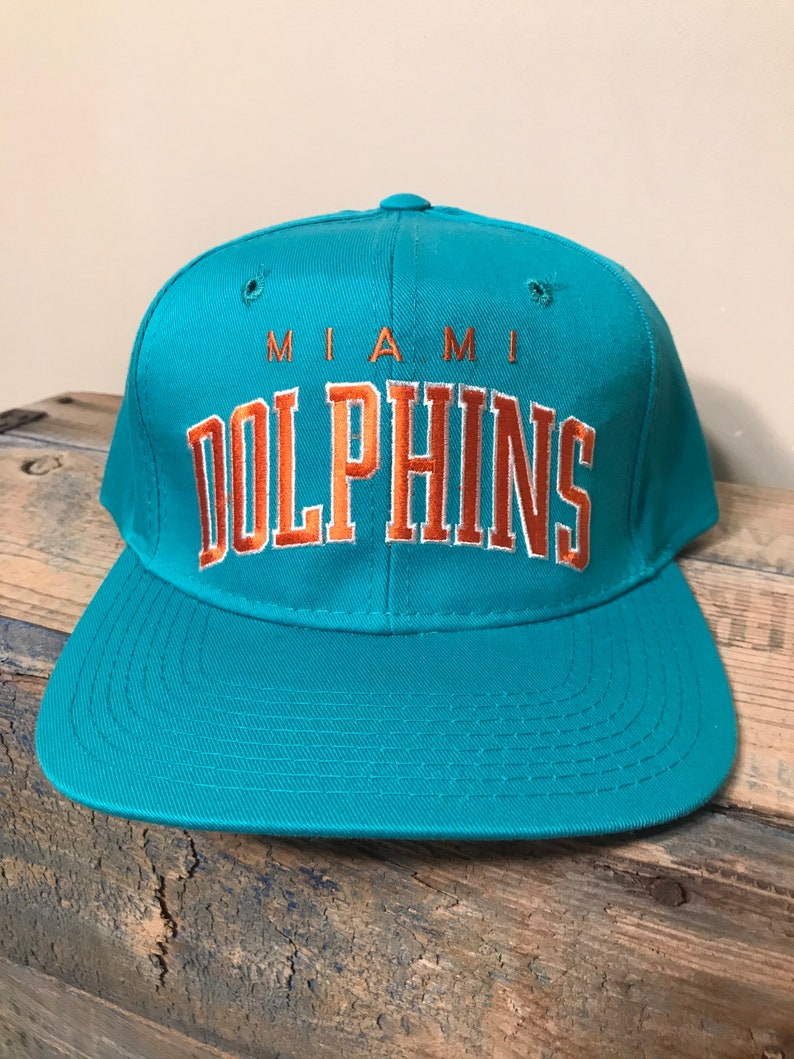 3974d8779a25e Vintage Miami Dolphins snapback hat    deadstock new old stock