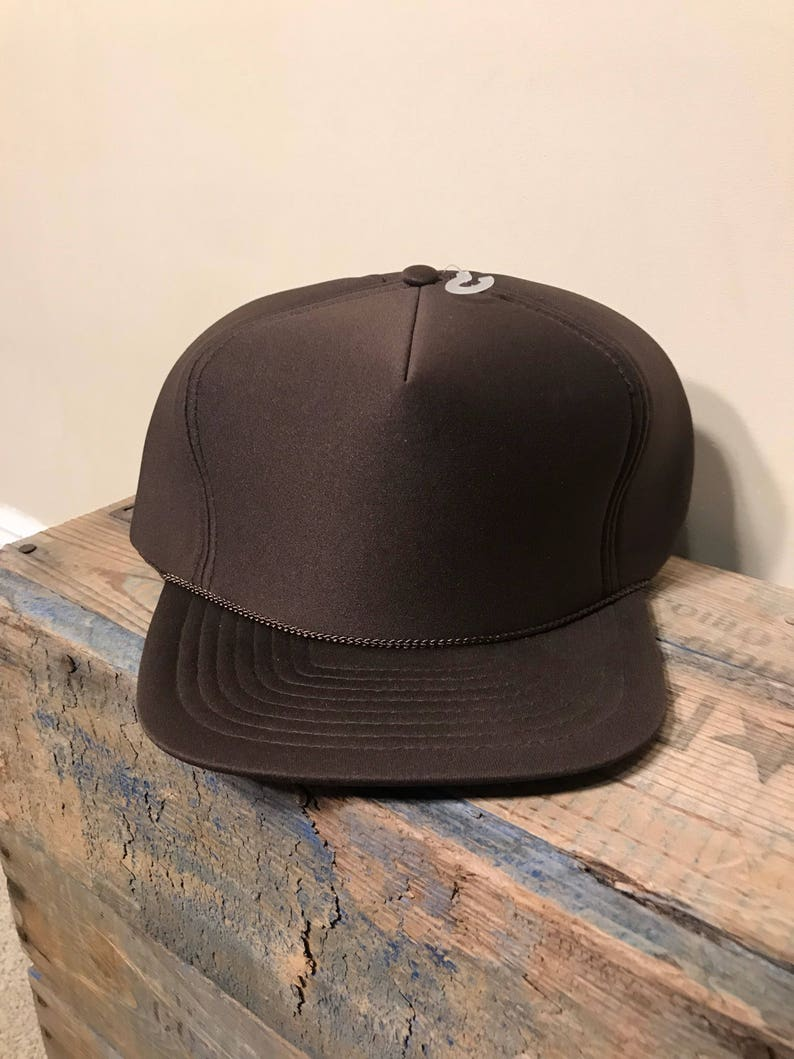 72fdcc1f New old stock // Vintage Brown Foam Rope hat // truckerc cap   Etsy