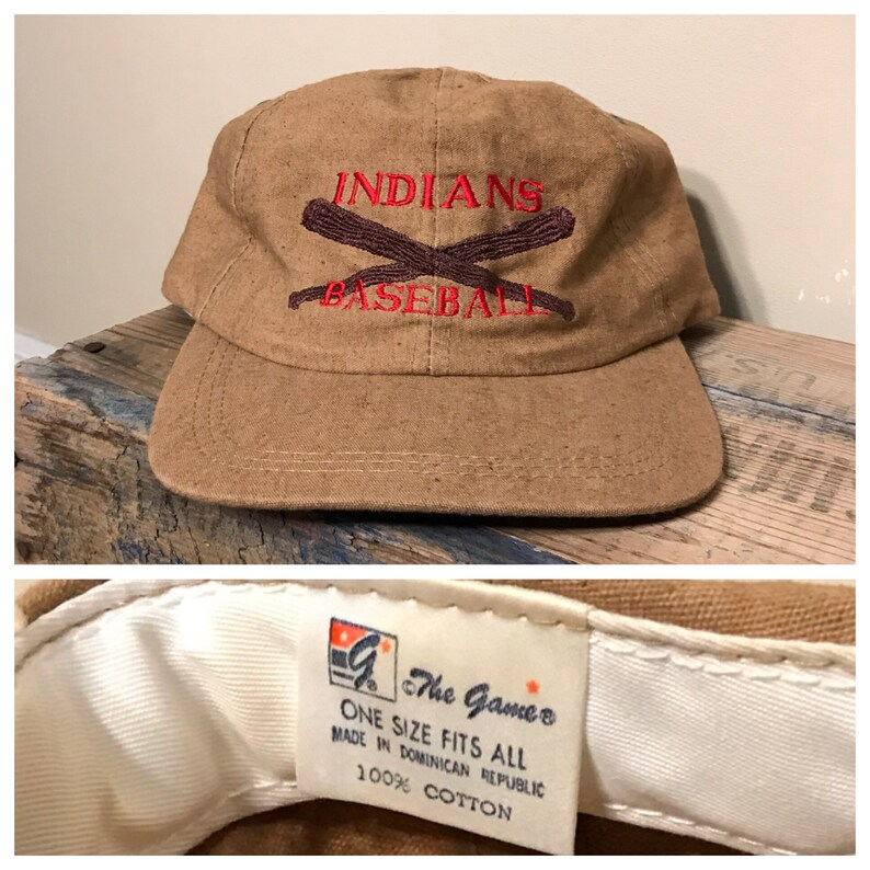 de9555922eb 90s Vintage Cleveland Indians hat    made by the game    dad