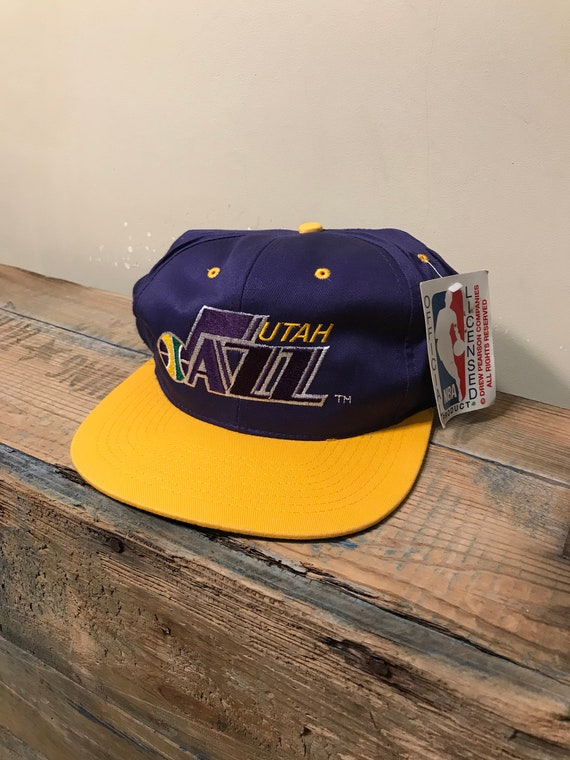 6f7a2b4eb3bc81 ... discount vintage utah jazz hat two tone deadstock new with tags nos  e74eb e6008