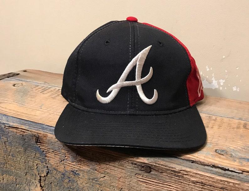 Vintage Atlanta Braves hat    snapback cap    color block  89035b3a2c40