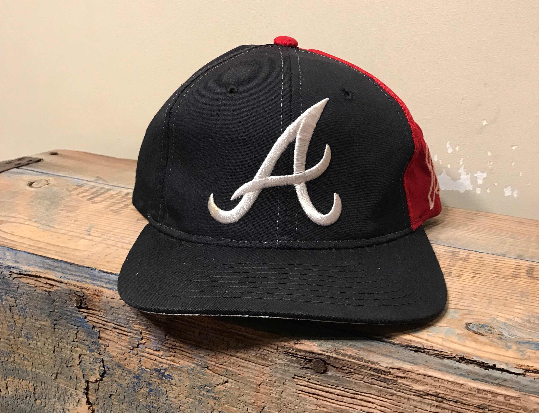 b506d402347 ... vintage atlanta braves hat snapback cap color block etsy