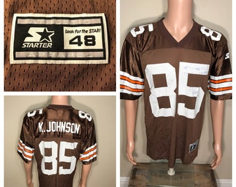 Vintage Cleveland Browns jersey // Kevin Johnson #85 jersey shirt // made by starter mesh jersey // adult size large // retro 90s NFL
