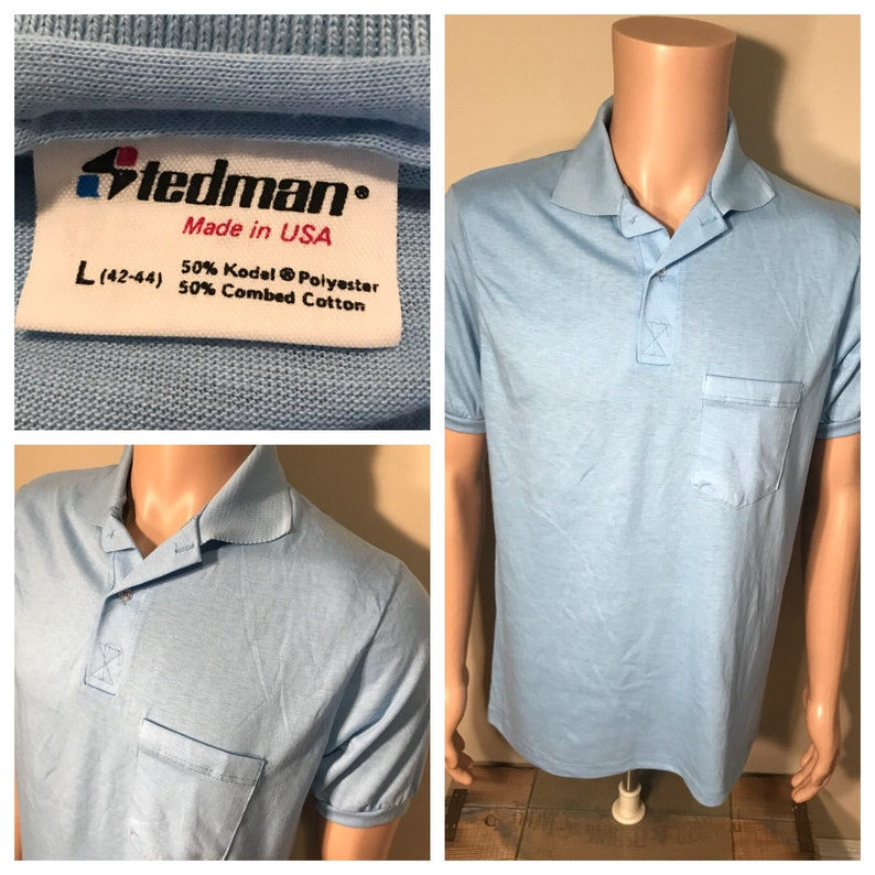 Vintage Stedman Polo pocket tshirt // NOS // deadstock plain image 0