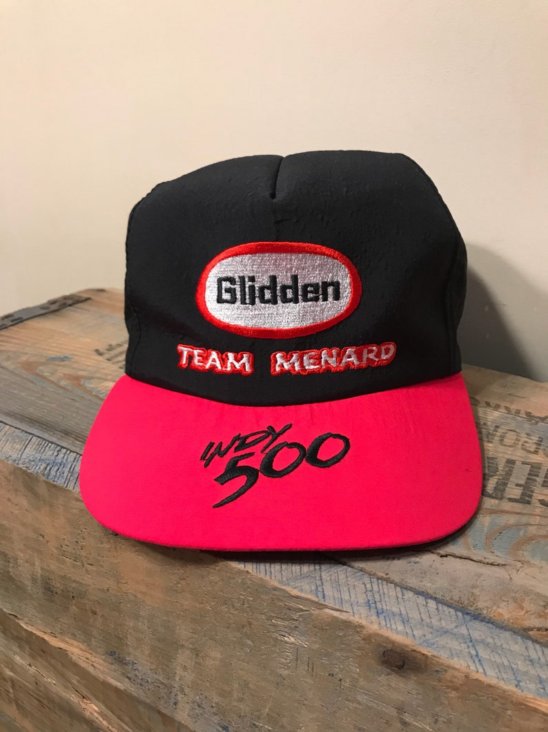 16c084d58bc Indy 500 hat    Glidden Racing team    Indianapolis 500