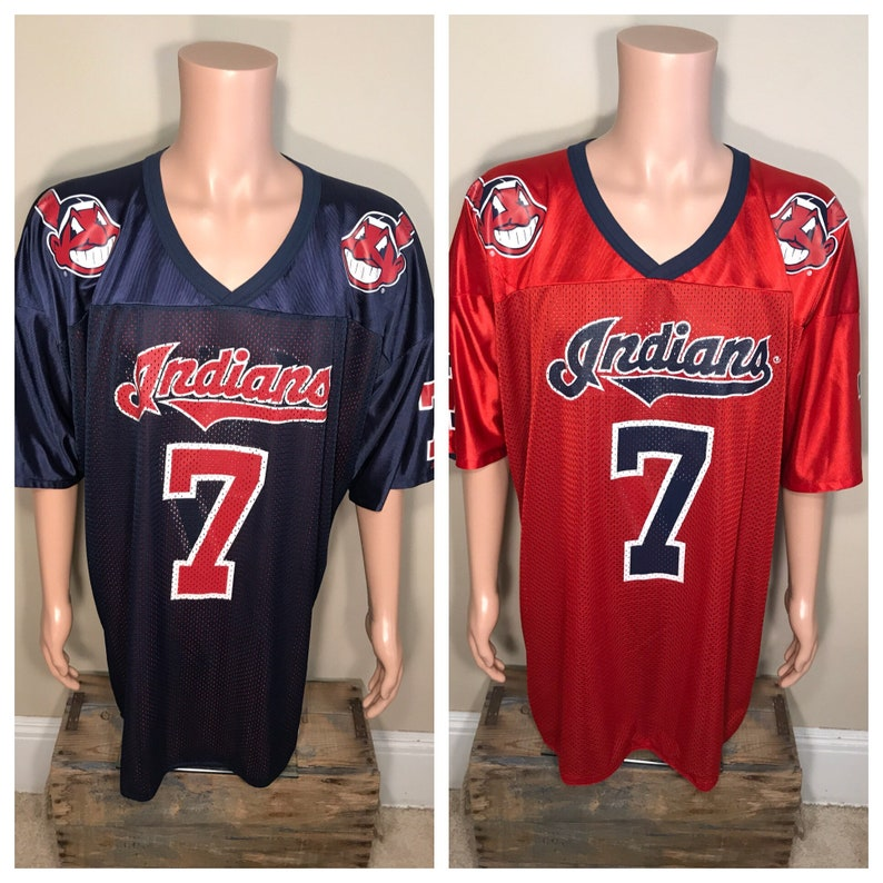 separation shoes 7a831 592b8 Vintage Kenny Lofton jersey // Cleveland indians reversible mesh jersey //  chief wahoo logos // made by mirage // RARE hockey style shirt