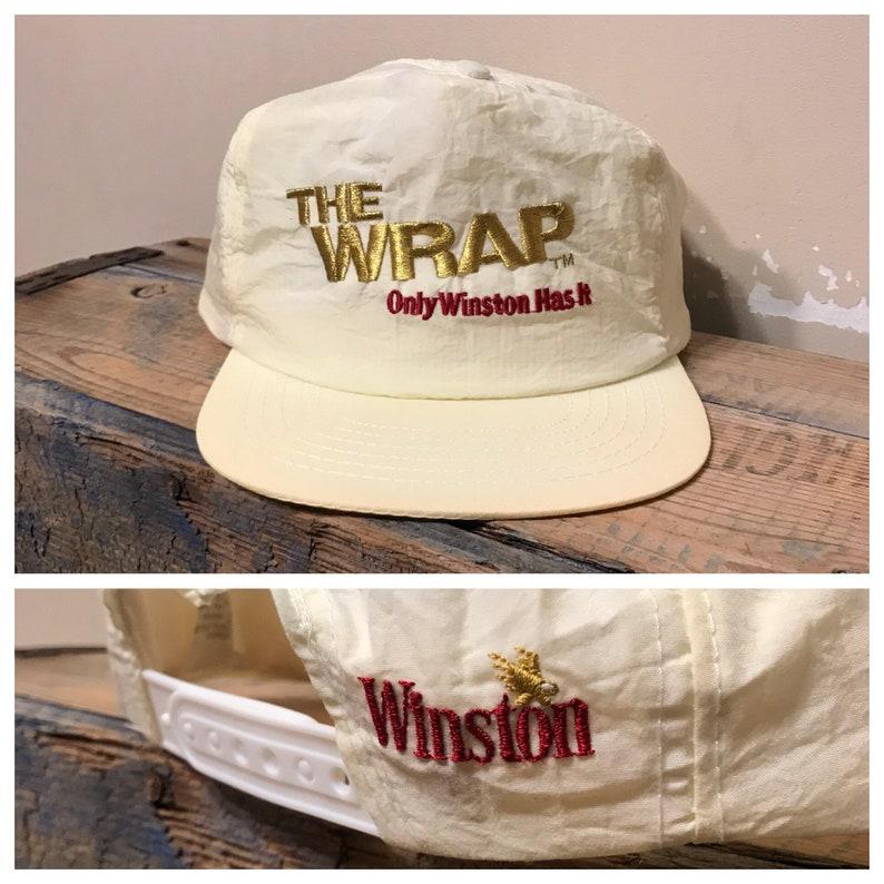 4d8f6511167 Vintage Winston Cigarettes hat    snapback hat cap    The wrap