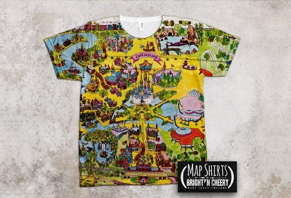 Walt Disney World Magic Kingdom Vintage Map T Shirt, Family Vacation,  Birthday Gift Idea, Cinderella Castle, Disney Princess
