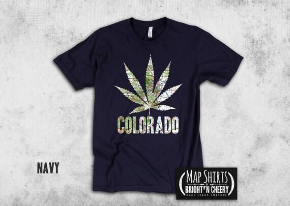 Colorado Map Marijuana Leaf Silhouette, American Apparel Cotton Fleece Pullover Crewneck, Pot leaf sweatshirt, loungewear,