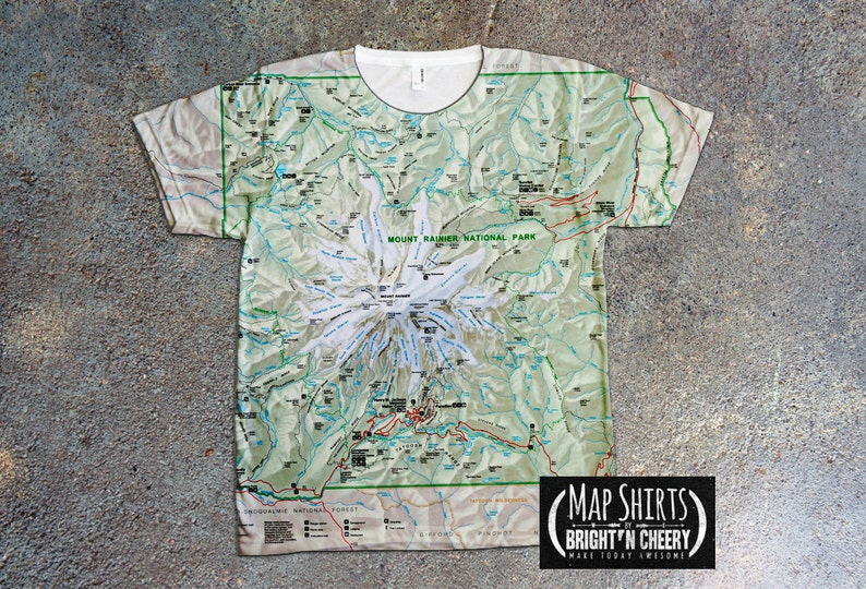 Over Parc Mount Impression Shirt T National Rainier All TeeEtsy 6bYyf7gv