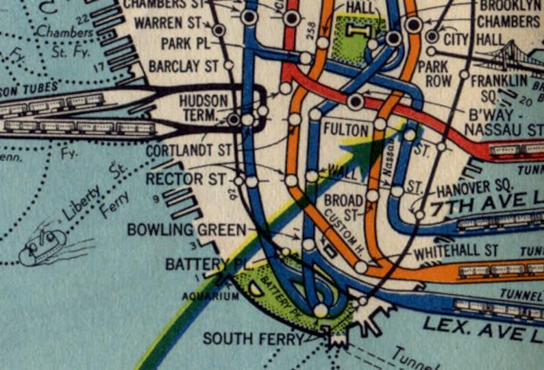 Nyc Subway Map 1950.Vintage 1939 Nyc Subway Map Shirt All Over Print Tee Mta Tshirt Metro Tee Manhattan Shirt Green Line Tee New York City I Love New York