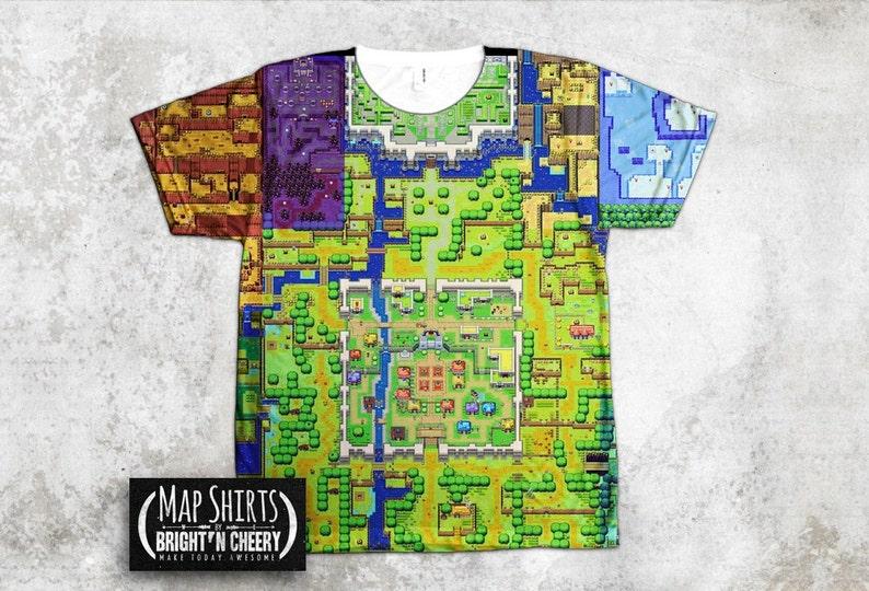 af8387439 Zelda Map T Shirt All Over Print The Legend of Zelda The   Etsy