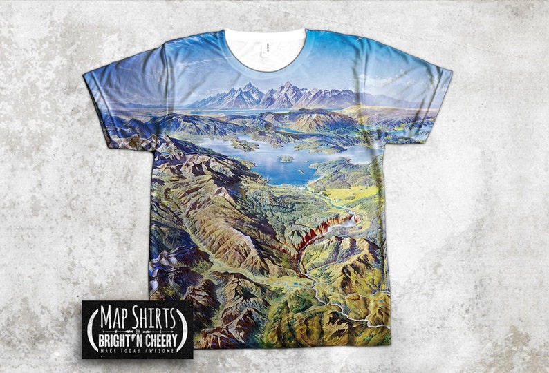 1936827f7 Yellowstone National Park Earth Art T Shirt All Over Print | Etsy