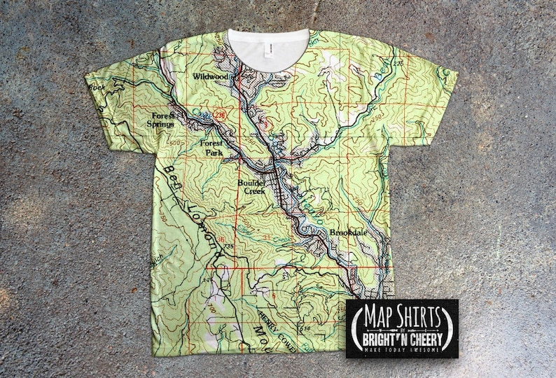d72f4dadc27 Custom Home Town Map Shirt Personalized All Over Print Map