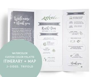 Itinerary map Etsy