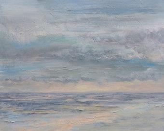 Calm Seascape, Original Acrylic Seascape on Canvas