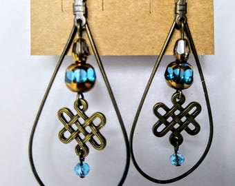 Celtic Knot Droplet Earrings