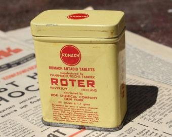 Pharmacist Gift - Medical Tin - Roter Tin Box - Vintage Tin - Metal Tin - Dutch Tin - Pharmacy Tin - Advertising Tin - Made in Holland