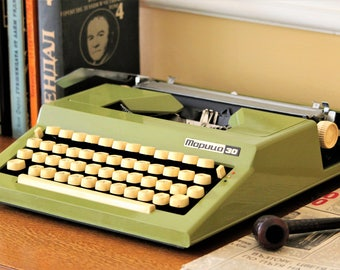 Vintage Typewriter - Portable Typewriter - Manual Typewriter - Rare Cyrillic Alphabet Typewriter - Bulgarian Typewriter - Maritsa Typewriter
