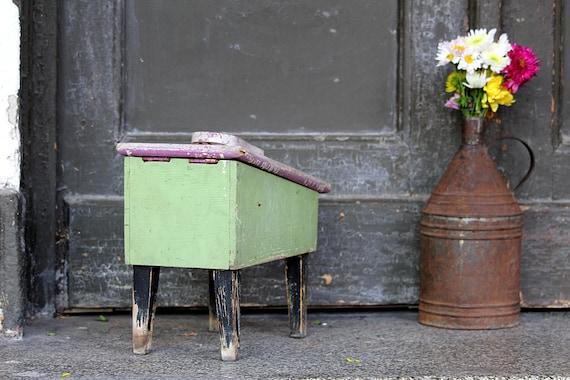 Shoe Shine Bench Vintage Cobblers Box Shoe Shine Kit Etsy
