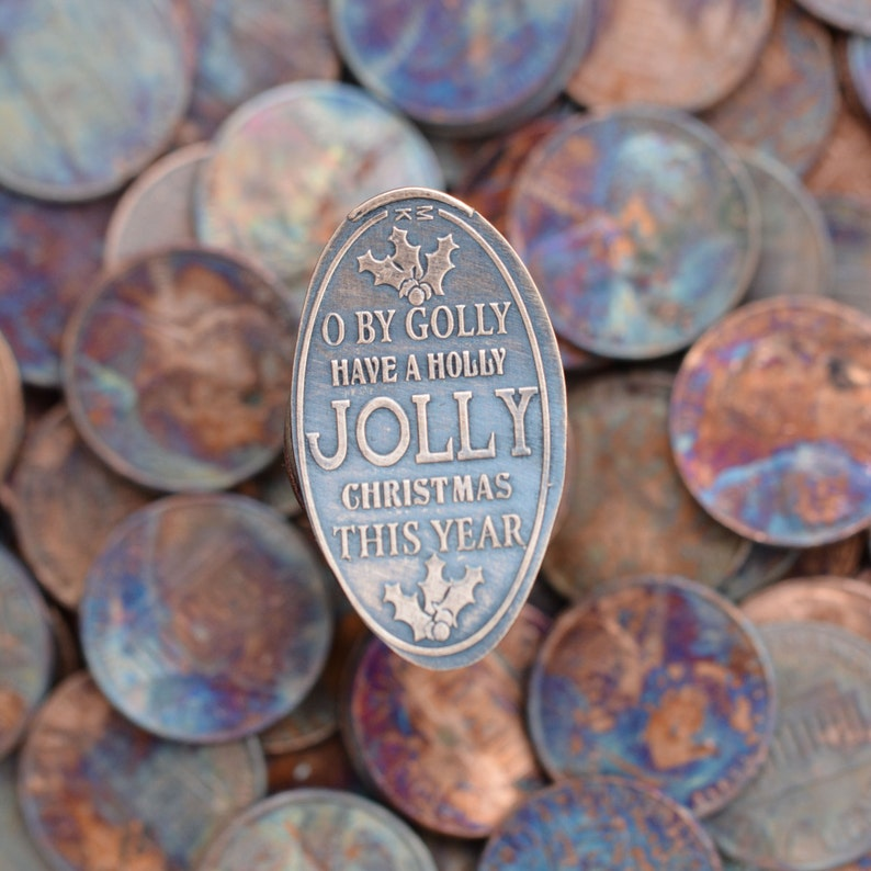 Holly Jolly Christmas Pressed Penny