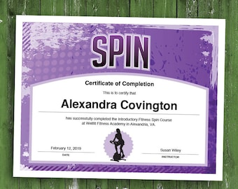 6 Fitness Customizable Certificates Download Printables Etsy