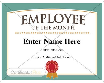 certificate of appreciation award business certificate etsy