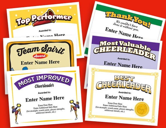 graphic relating to Cheerleading Templates Printable identified as Cheerleading Certificates, Cheerleader Awards, Cheer Certificates, Personnel Printables, women certificates, prepare items, templates, 6-pack