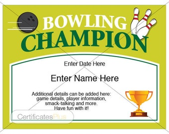 Bowling certificate, bowling trophy, bowling award, bowling shirt, bowling award certificates, bowling ball, bowling pin, bowling templates