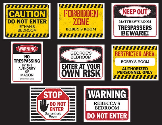 Fun Kids Bedroom Door Signs Printable Customizable Digital Etsy